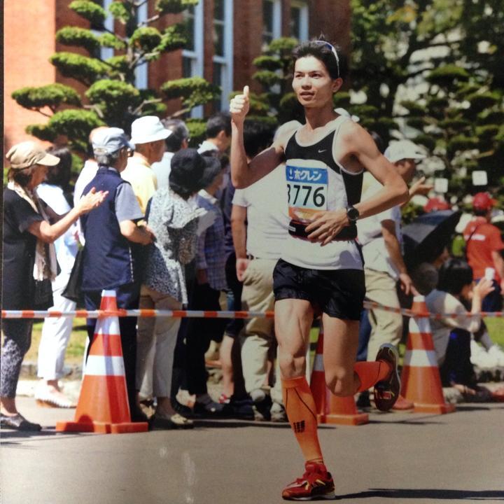 ペーサーの小倉さん。2014北海道マラソンにて。